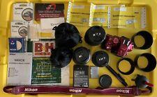 Red Nikon D5300 Digital Camera + 3 Professional Lenses + Bundle