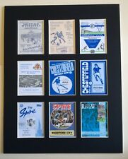 """CHESTERFIELD FC RETRO PROGRAMME PICTURE MOUNTED 14"""" By 11"""" READY TO FRAME"""