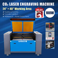 Omtech 100w Co2 Laser Engraver Cutter Etcher Ruida 24x40 Inch Bed With Lightburn