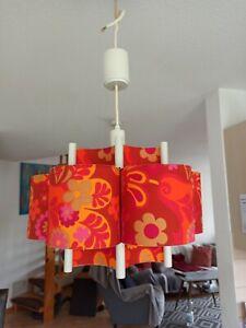 Decken Lampe 70er Jahre Seventies Retro Vintage mid Century Space Age Blumen rar