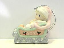 Precious Moments - Baby'S First Christmas 2015 Ornament / Girl