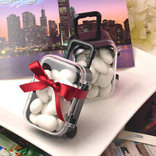 Black Color Travel Suitcase Box Candy Gift Boxes Wedding Favor Boxes Kids Gifts