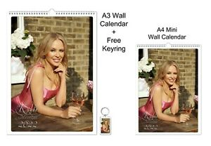 Kylie Minogue 2022 A3 A4 Wall Office Calendar + Key Ring