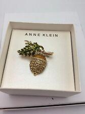 "Anne Klein "" Boxed"" Gold-Tone  Pin $28"