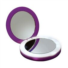 New NIB Sanho HyperJuice Pearl Compact Lit Makeup Mirror Battery Pack - PURPLE