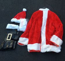 SANTA CLAUS DELUXE COSTUME HALLOWEEN CHRISTMAS JACKET PANTS BELT BEARD GLASSES