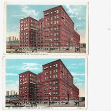 Postcards Bethlehem Steel Pa General Office Building-Same image 2 diff Publisher