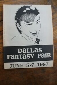 Dallas Fantasy Fair Convention Programs 1986, 1987 Dave Stevens