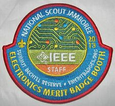National Jamboree 2013 Electronics Merit Badge Staff Pocket Patch  BSA