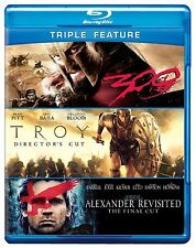 TROY / ALEXANDER REVISITED / 300 triple feature -  Blu Ray - Sealed Region free