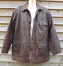 Timberland Weathergear Waxy Brown Leather Field Jacket ~ M - c1998