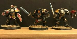 Warhammer 40k Red Scorpions Chapter Master 3 Marine Command Squad!