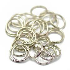 50 Split Rings Keyrings Keychains 15mm Silver Tone Metal Keys Holder