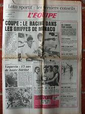 L'Equipe du 10/5/1985- Foot : Coupe de France - Rugby : Vaquerin - Gym française
