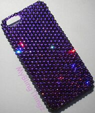 PURPLE Crystal Rhinestone Bling Back Case for iPhone 5 with Swarovski Elements