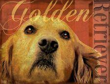 GOLDEN RETRIEVER Dog Print Poster- Golden-Vintage by Wendy Presseisen