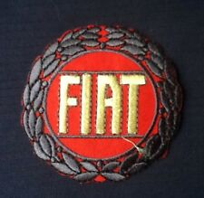 FIAT CLASSIC RACING CAR LOGO FIAT 500 BADGE IRON SEW ON PATCH BADGE CREST