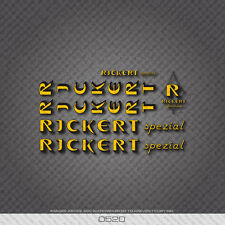 0520 Rickert Bicycle Stickers - Decals - Transfers