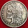 Double headed skeleton morgan dollar Souvenir replica