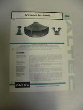 Vintage Original Altec 329A Sectoral Horn Speaker Assembly Spec Sheet (A3)
