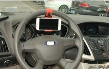 Clip Car Steering Wheel Bike Handlebar Holder For iPhone 4 5 6 Samsung LG Sony