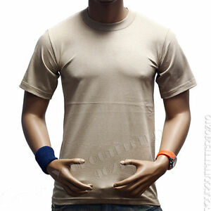 Men T-Shirts HEAVY WEIGHT Crew Neck Plain Blank Sports Active Gym Camo tee S-7X