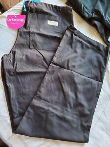 "Urbane Women's Relaxed Drawstring Scrub Pant Black Size 36""WX31""L NWT"