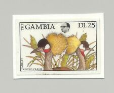 Gambia #723 Birds, Cranes 1v Imperf Chromalin Proof on Card