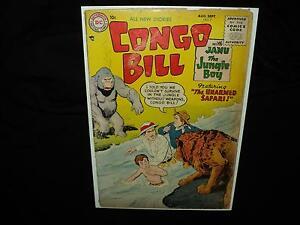 Congo Bill #7 (SCARCE!) Silver Age, Jungle, 1955 DC Comics (id# 15521