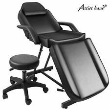 Artist Manual massage table Adjustable massage bed W / Free barber chair Spa bed