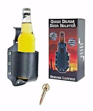 Beer Holster --- Genuine Leather Beer Holder Koozie for Can or Bottle Beverage