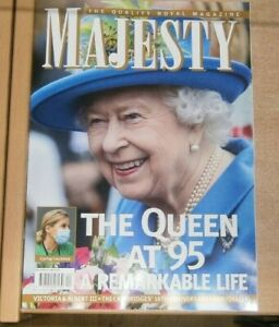 Majesty magazine Vol 42 #4 2021 The Queen at 95 A remarkable countess +K&W @10yr