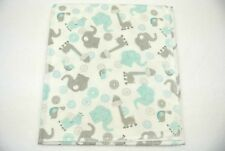 Baby Blanket Giraffes Elephants Birds Can Be Personalized 36x40