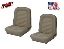 1966 Mustang Front Bucket Seat Upholstery- Pair- Parchment by TMI - IN STOCK!!