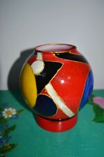 "Hand Painted Vase ""Kandinsky Motives"", Suprematism"