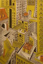 "John Ross ""Metropolis"" Hand Signed, Numbered Collagraph Art Print, Make Offer!"