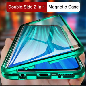 For Xiaomi Redmi Note 10 9 Pro Mi 11 10T Magnetic Adsorption Tempered Glass Case
