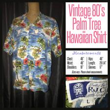 Vintage Rjc 80's Hawaiian Palm Tree Island Shirt L Large 48B