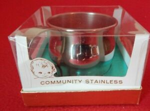 Vintage Oneida PAUL REVERE Community Stainless Child Cup 79-55 In Original Box
