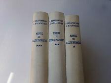Manuel de l'élève infirmière 3 volumes Croix-Rouge Française 1962 Livre