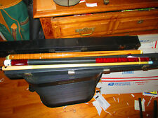 """New listing LUCASI 2 Piece Pool Cue 18.75 oz 58 3/8 inches 0Flexpoint """"U"""" shaft + Hard Case"""