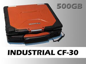 Industrial Panasonic Toughbook 30 Laptop, Windows 7, 500GB HD, 4GB RAM, DVD