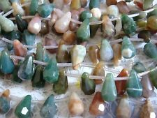 "8x14mm Faceted Briolette Teardrop Shape Bloodstone 15""-16"" INCH Stones Beads @"
