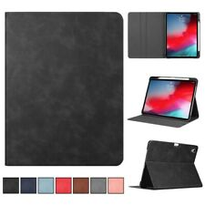 Folio Leather Smart Stand Case Cover With Pencil Holder For iPad Pro 11''