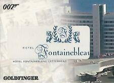 "James Bond Complete - RC3 ""Hotel Fontainebleau Letterhead"" Costume Relic Card"