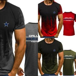 Dallas Cowboys Short Sleeve Football FAN'S Summer Casual T-Shirt Tee Tops