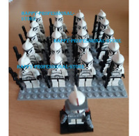 21 Pcs Star Wars Minifigures Clone Trooper Commander Captain Rex Storm Lego MOC