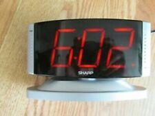 Sharp Model SPC033 Digital Large Number Display Alarm Clock Rotating Face