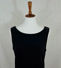Vintage Carol Anderson Long Black Velvet Dress Size 10 Scoop Statement Back Prom