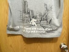 ANDI Gray graphic L t shirt this is my court
